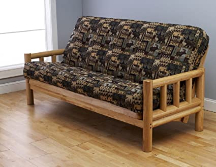 Kodiak Cabin Lodge Log Futon Frame W Up North Premium 8 Innerspring Mattress Sofa Bed Set Sofa Frame Mattress