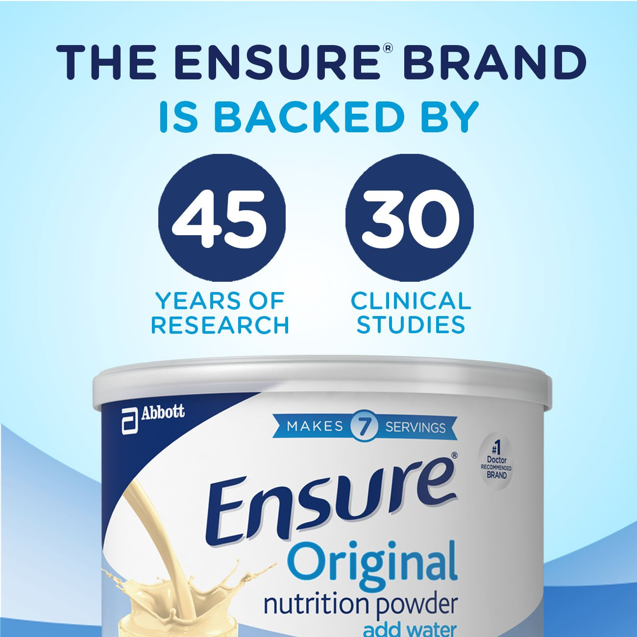 Ensure Original Nutrition Powder with 9 grams of protein, Meal Replacement, Vanilla, 14 oz, 6 count by Ensure (Image #12)