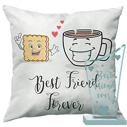 Buy Happy Birthday Gift For Best Friend Combo Of Trophy And Cushion By Paper Plane Design Online At Low Prices In India