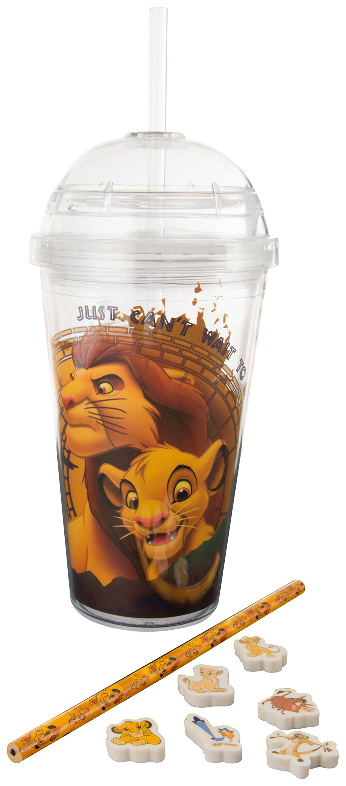 Sambro Disney Lion King Travel Tumbler, with Stationery Set, Multi Colour