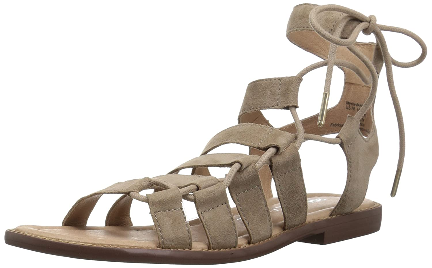 206 Collective Women's Myrtle Gladiator Fashion Flat Sandal B078B27BL5 11.5 B(M) US|Taupe Suede