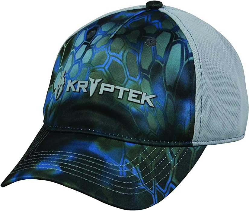 Kryptek Battlefield Logo Tactical Camo Neptune   Blue Steel Grey Cap Hat  145 2346c899269