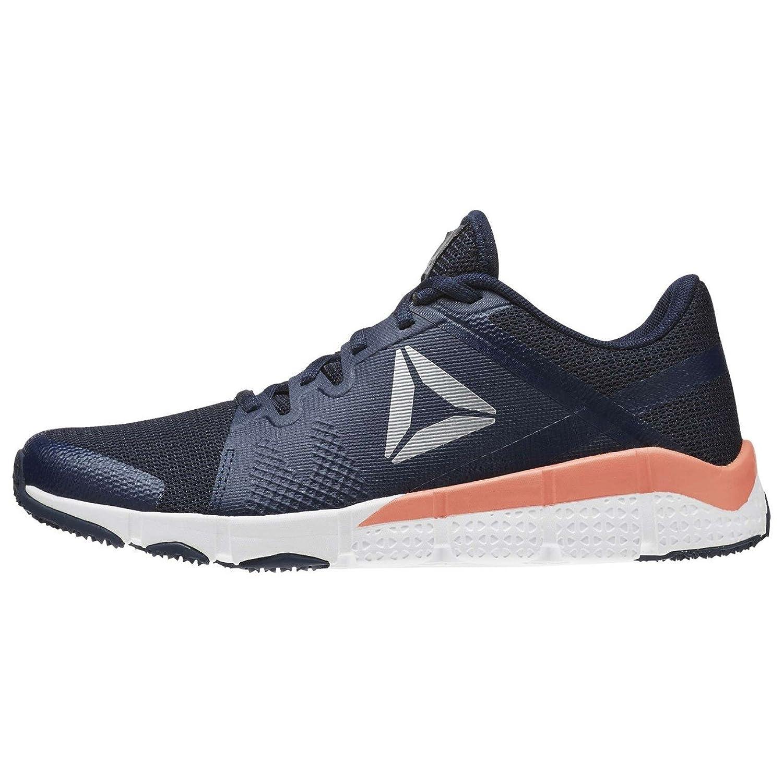 Reebok Trainflex, Sneaker Basses Femme, Bleu (Blu Collg Navy/WHT/Stellar Pink/Met Silver/g), 37 EU