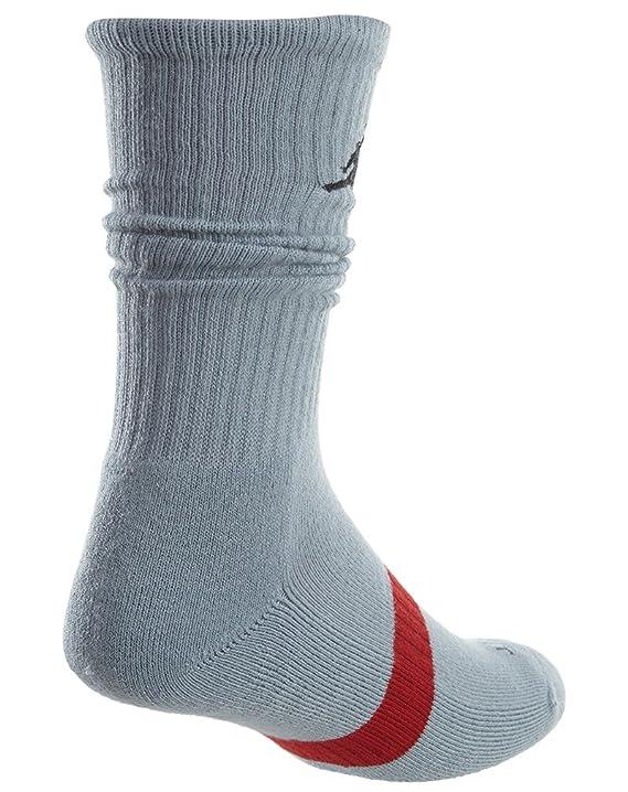 Jordan Dri-FIT Crew Basketball Socks para hombre (paquete de 3) Gym Red / Wolf Gray / White Medium (tama?o para calzado de hombre 6-8): Amazon.es: Deportes ...