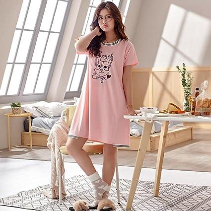 c6d6fb5eb6 Pijama GAODUZI Dormir Falda Mujer Verano algodón Coreano Fresco Estudiante  Lindo sección Delgada Vestido de algodón