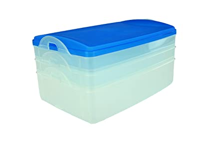 Triple Decker Food Cold Cut Keeper Container  sc 1 st  Amazon.com & Amazon.com: Triple Decker Food Cold Cut Keeper Container: Food ...
