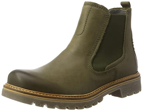 camel active Women's Canberra 72 Chelsea Boots, Green (Olive 1), 3 UK