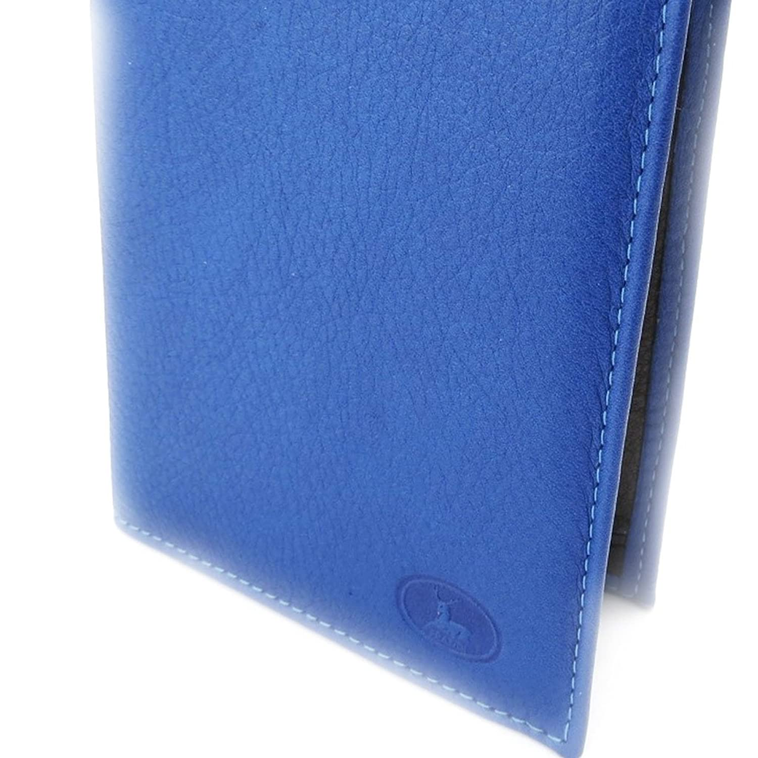 "Wallet leather ""Frandi"" blue black."