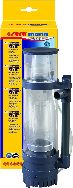 Sera 31118 Marin Protein Skimmer PS 200 un espumador de proteínas para acuarios de Agua de mar de hasta 200 l/h / 8 W como Repuesto Marin LED Cube 130