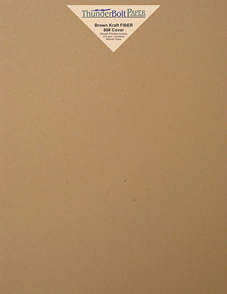 Amazon 150 brown kraft fiber 80 cover paper sheets 85 x 150 brown kraft fiber 80 cover paper sheets 85quot x 11quot reheart Gallery