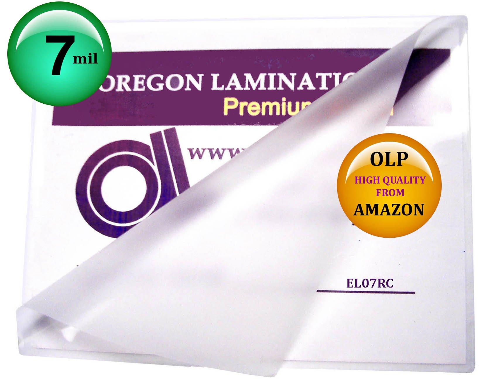 7 Mil 12 x 18 Menu Laminating Pouches Hot Laminator Sleeves Qty 100 by Oregon Lamination Premium