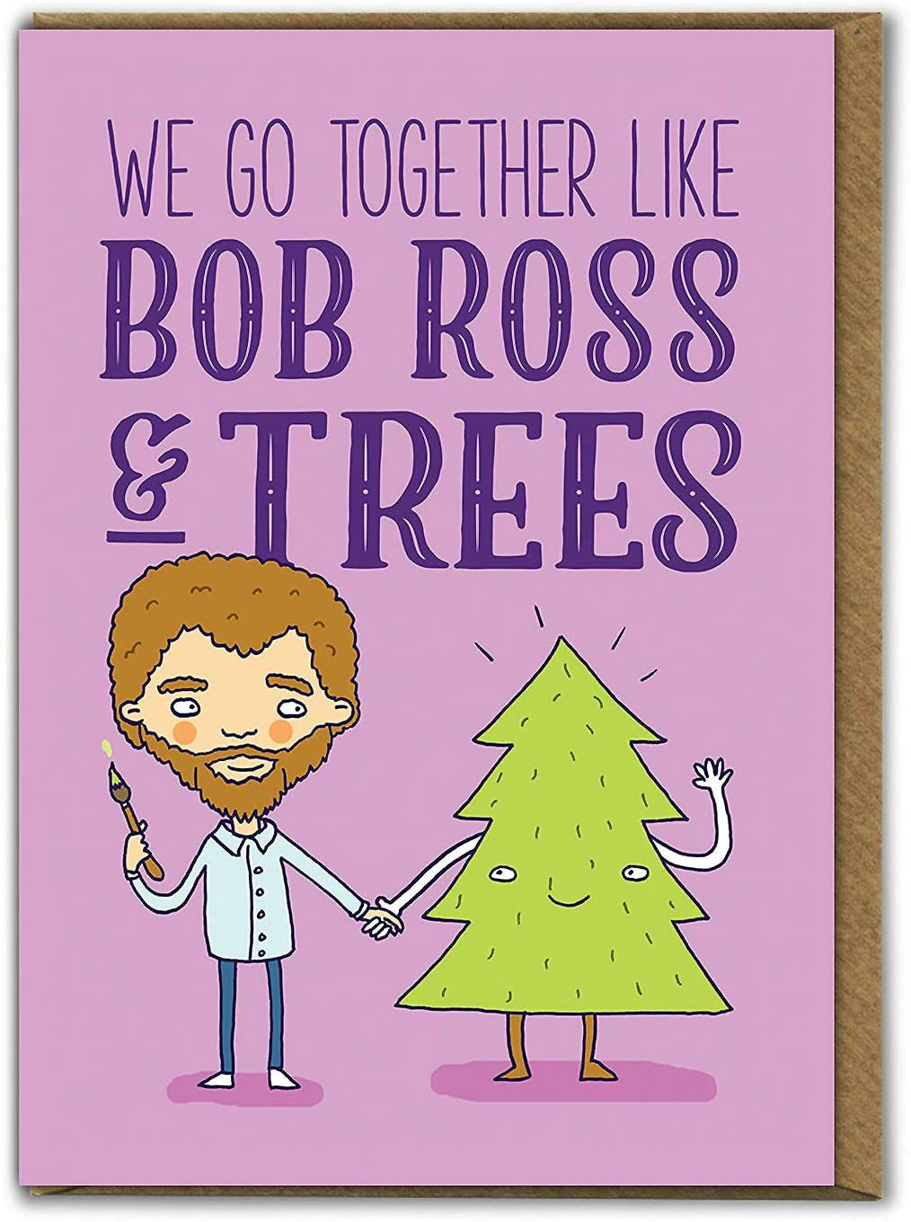 Funny Humorous Bob Ross And Trees Birthday Greetings Card Tog012 Amazon Co Uk Office Products