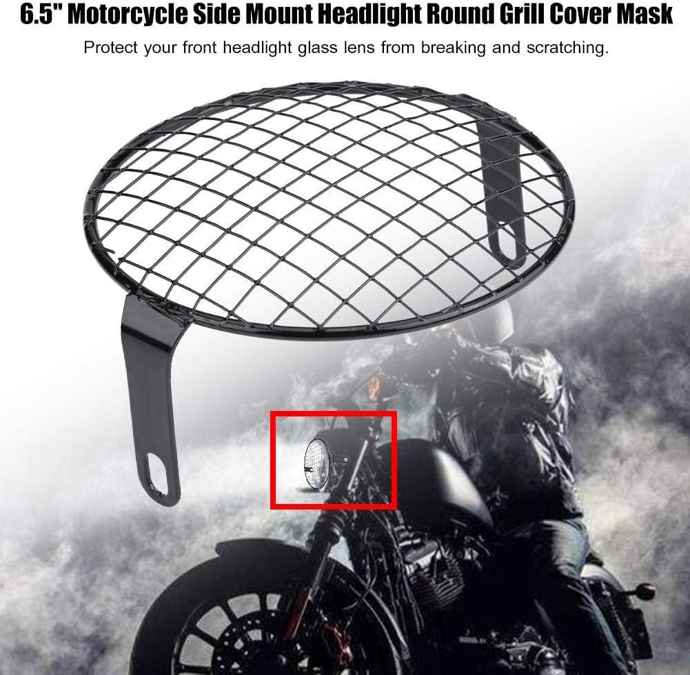 Scheinwerfer Abdeckung 6 5 Scheinwerfer Grillabdeckung Motorrad Seitenmontage Scheinwerfer Runde Grill Abdeckmaske 2 Auto