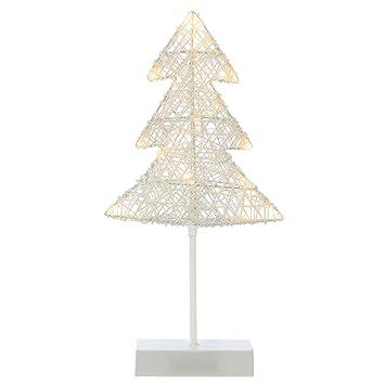 Weihnachtsbaum Rattan.20 Led Dekoleuchte Baum In Rattan Optik Warmweiß Rahmen Weiß Batterie Höhe 40 Cm Lichterbaum Dekobaum Weihnachtsbaum Standleuchte Tischleuchte