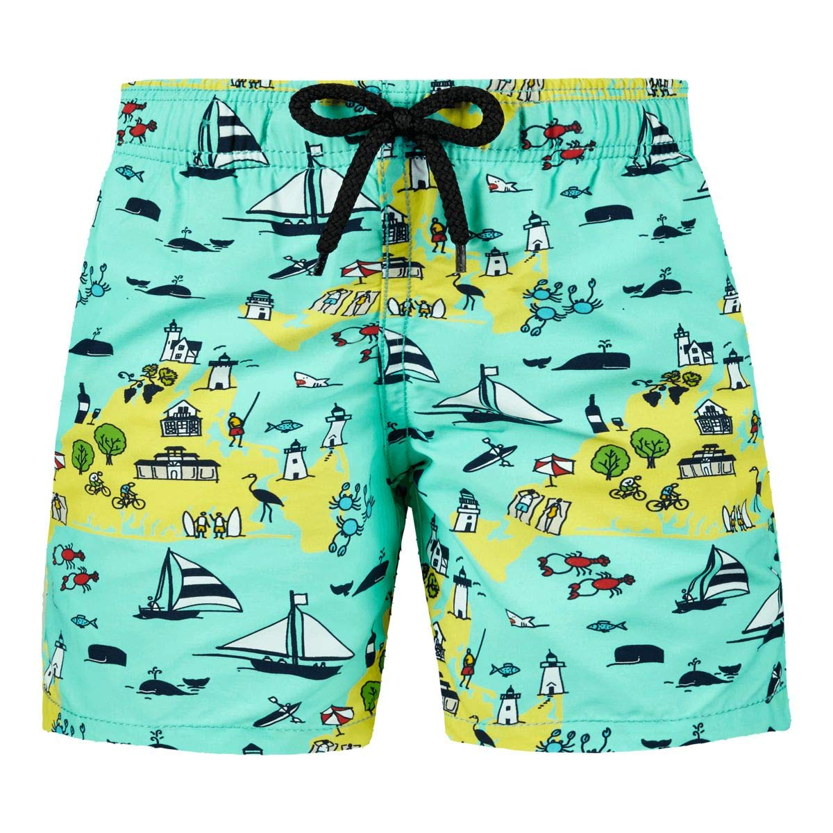 Vilebrequin - Boys Swimtrunks 12.7 Martha's Vineyard - Mint - 14YRS