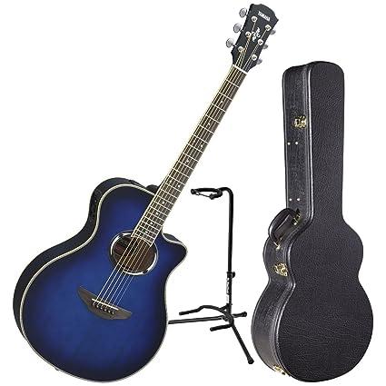 Yamaha apx500iii OBB acústica guitarra eléctrica Oriental azul Burst W/funda y soporte