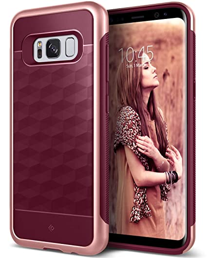 67be88b87d Amazon.com: Caseology Parallax for Samsung Galaxy S8 Plus Case (2017) -  Burgundy: Cell Phones & Accessories