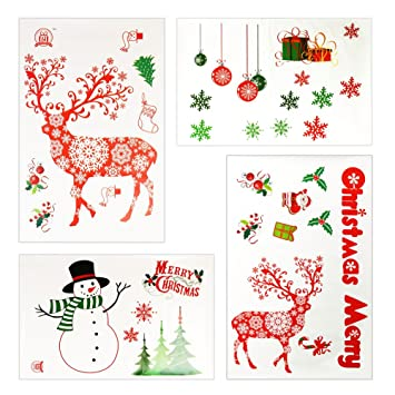 Weihnachtsdeko Für Die Tür.Weihnachtssticker Weihnachten Selbstklebende Fensterbilder
