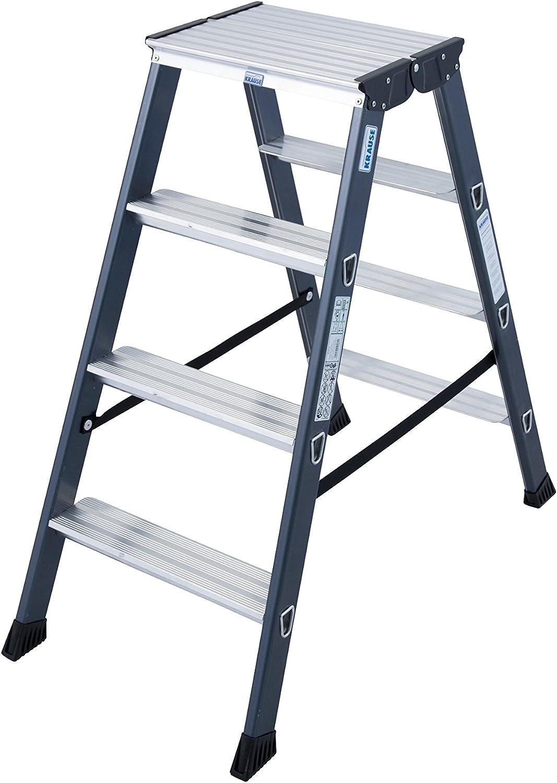 Krause – Escalera doble sepro D anodizado, 1 pieza, 2 x 4 peldaños, 125811: Amazon.es: Bricolaje y herramientas