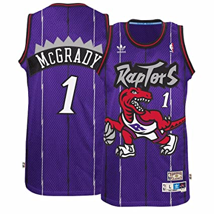7ba9173b1abe Amazon.com   adidas Tracy McGrady Toronto Raptors Purple Throwback ...