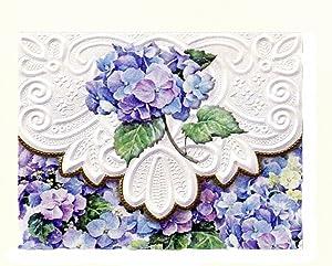 Carol's Rose Garden Hydrangeas Portfolio Blank 10 Card Set