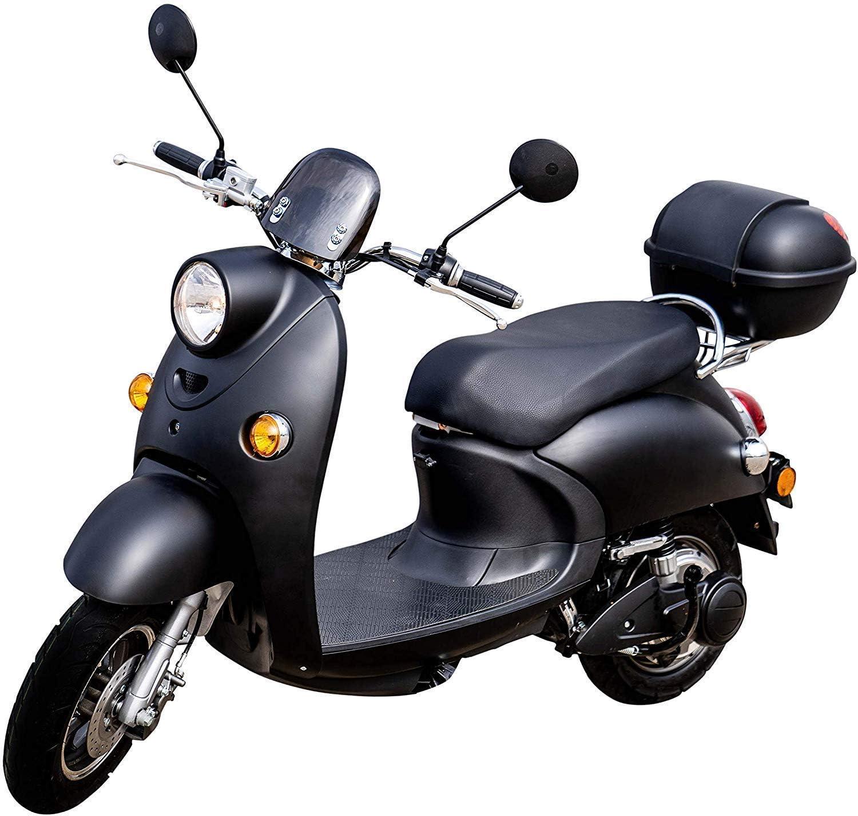 60 km E-Scooter E-Roller mit Stra/ßenzulassung ElektrorollerONE Topcase Blei-Gel-Akku Schwarz Elektro Roller 45 km//h inkl 2000 Watt