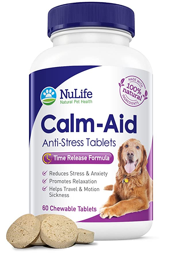 amazon com natural calming pills for dogs for stress anxiety