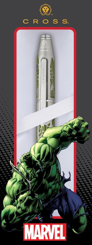espec/ífico Car/ácter Self Serve Box Cross Rollerball Cross X Marvel Hulk T A
