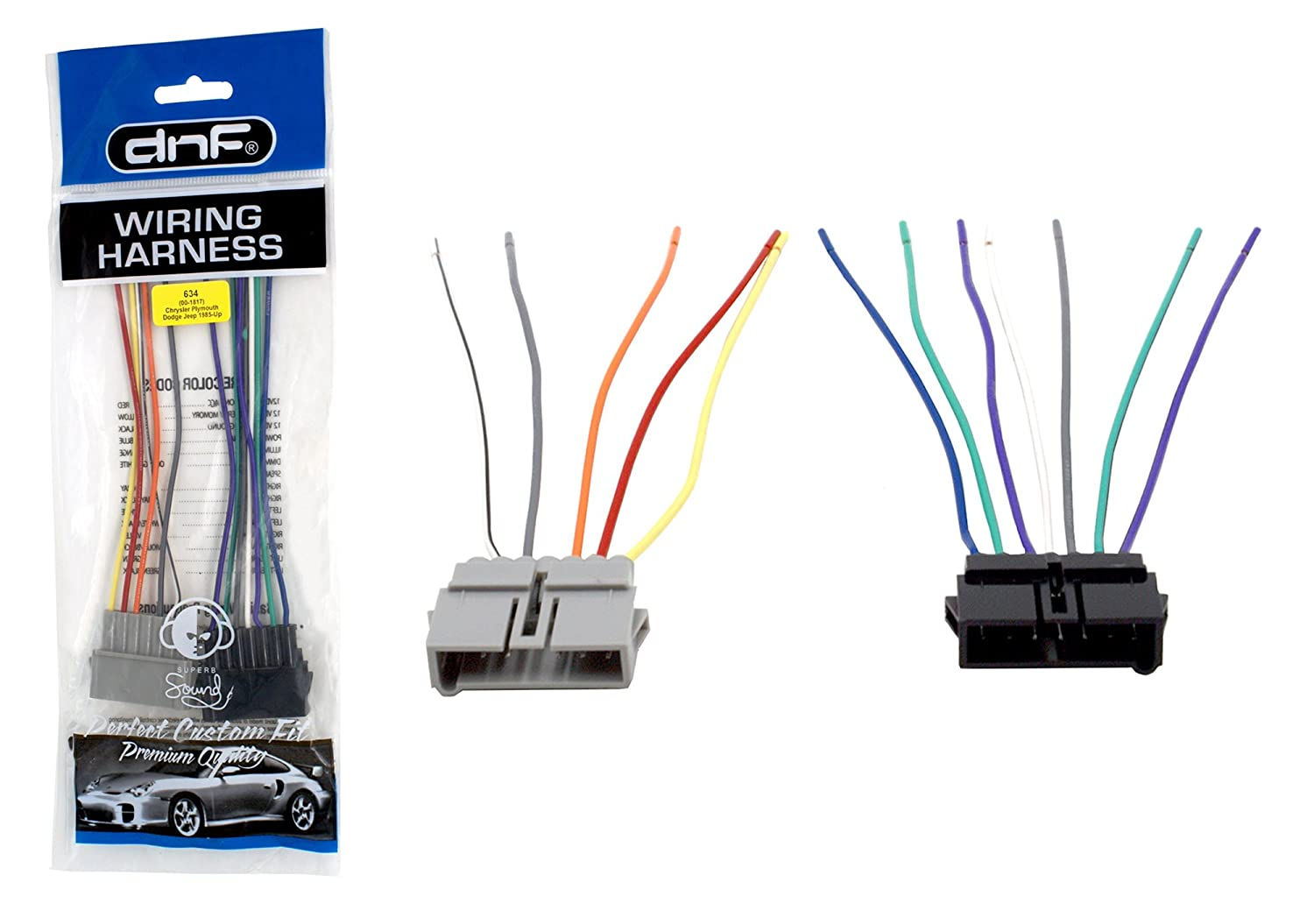Dnf Wiring Harness For Aftermarket Radios Stereos Chrysler Automotive Select Dodge Jeep Vehicles 70 1817 100 Copper Wires