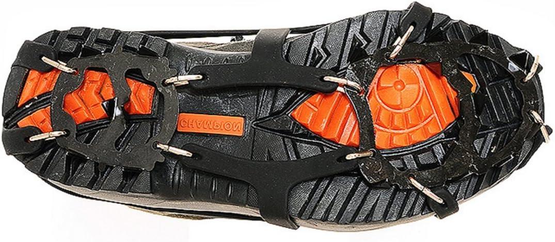 Medium Amicc 18Teeth Claws Crampon Ski Ice Snow Spikes Non-slip Shoe Cover for Climbing
