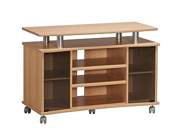 Hifi möbel buche  MAJA-Möbel 7362 4831 TV-Rack, Buche-Nachbildung - Alu-Optik ...