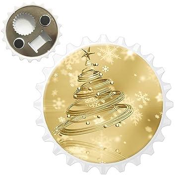 Compra Fancy A Snuggle Oro rígida Bolas para el árbol de Navidad con Estrellas y Copos de Nieve caída de abridor de Botellas imán para Nevera en Amazon.es