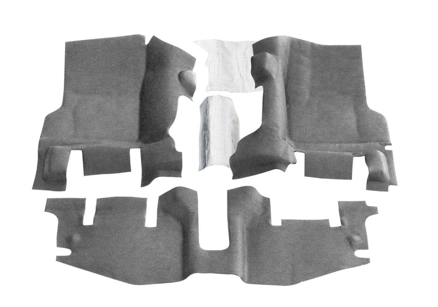 BedRug Jeep Kit - BedTred BTTJ97F fits 97-06 WRANGLER TJ/LJ FRONT 3PC FLOOR KIT (WITH CENTER CONSOLE) - INCLUDES HEAT SHIELDS