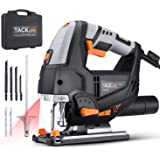 TACKLIFE Advanced 6.7 Amp 3000 SPM Jigsaw with Laser & LED, Variable Speed, Carrying Case, 6 Blades, Adjustable Aluminum…