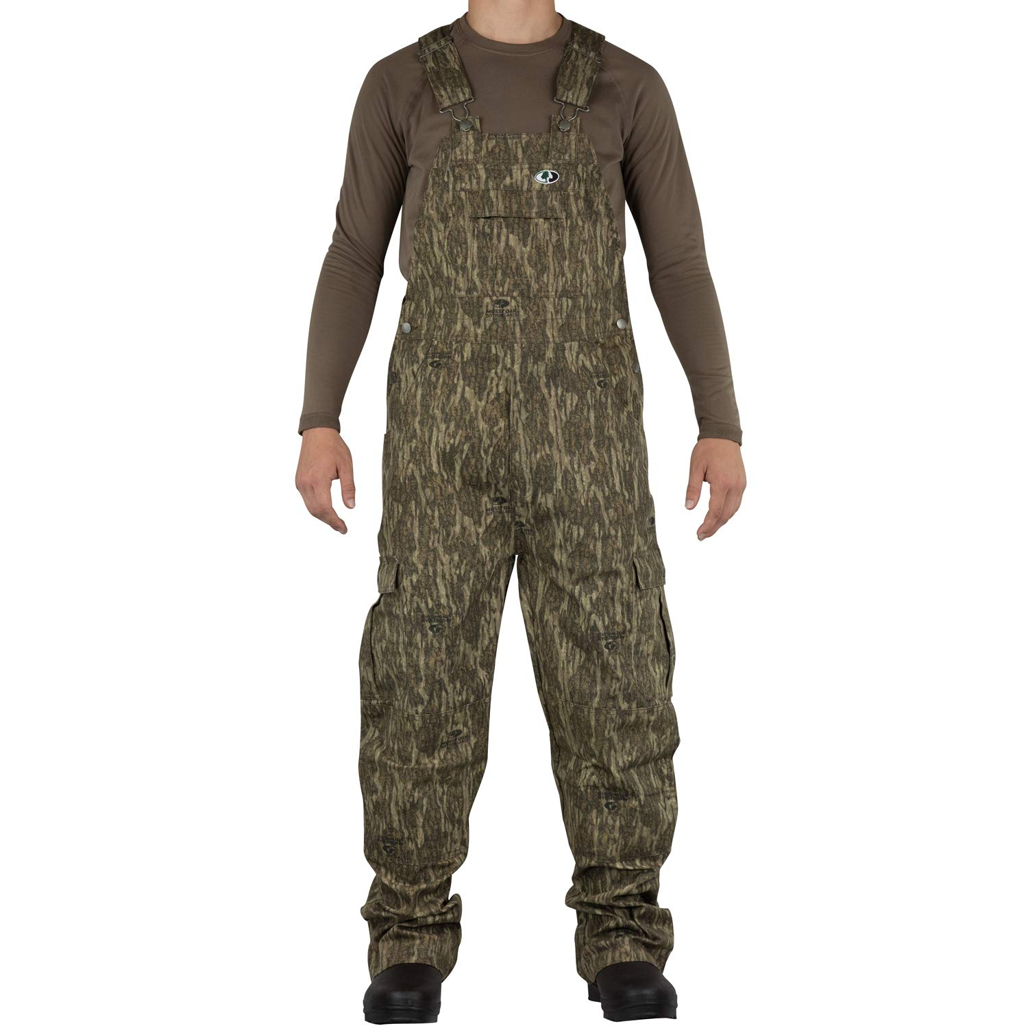 Mossy Oak Men's Mo Cotton Mill 2.0 Hunt Bib, Bottomland, 3X-Large by Mossy Oak (Image #1)