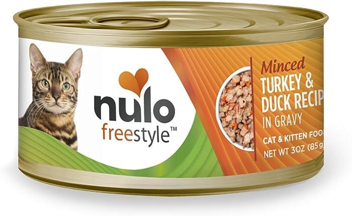 Nulo Adult & Kitten Grain Free Canned Wet Cat Food (Turkey & Duck Recipe, 3 Oz, Case of 24)