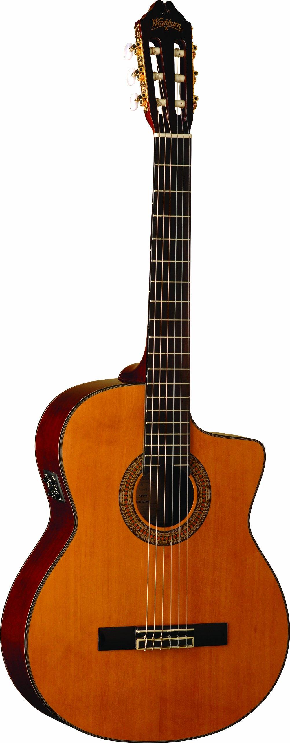Washburn Classical Series Acoustic Electric Cutaway Guitar by Washburn