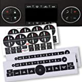 4 Pack AC Dash Button Sticker Repair Kit and