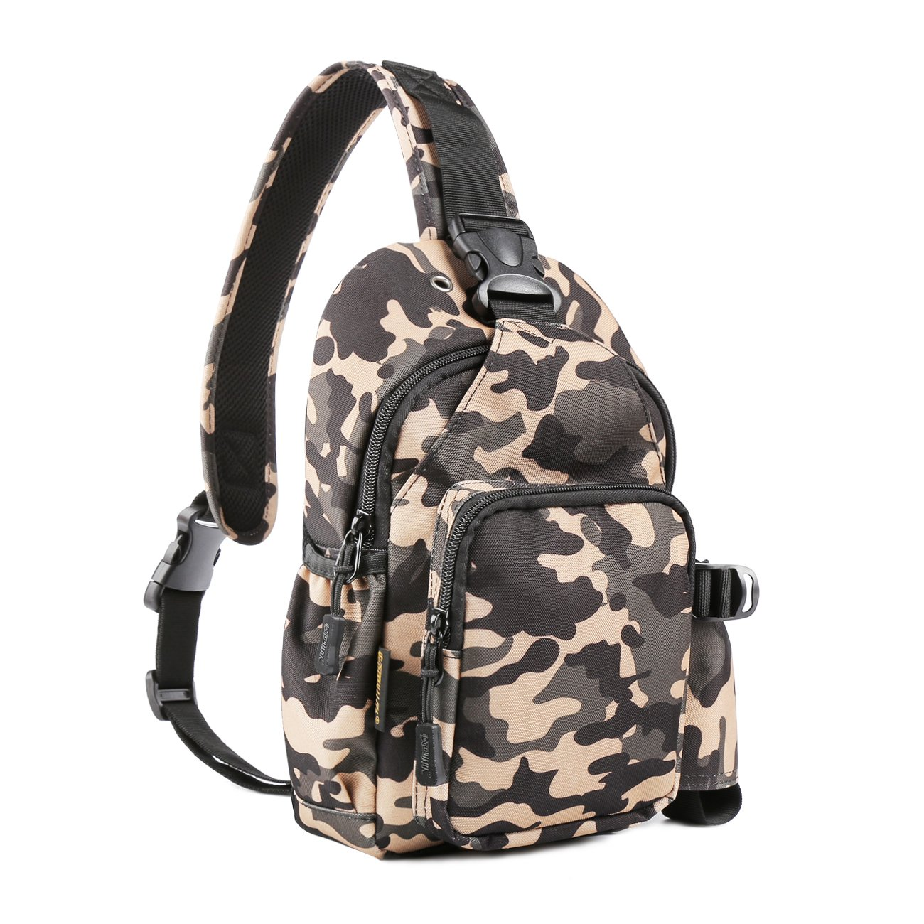 myoldsx Sling Bag Pack, impermeable pecho hombro Crossbody Mochila de senderismo, escuela bolsas Camping gimnasio ciclismo bicicleta mochila bolso para ...