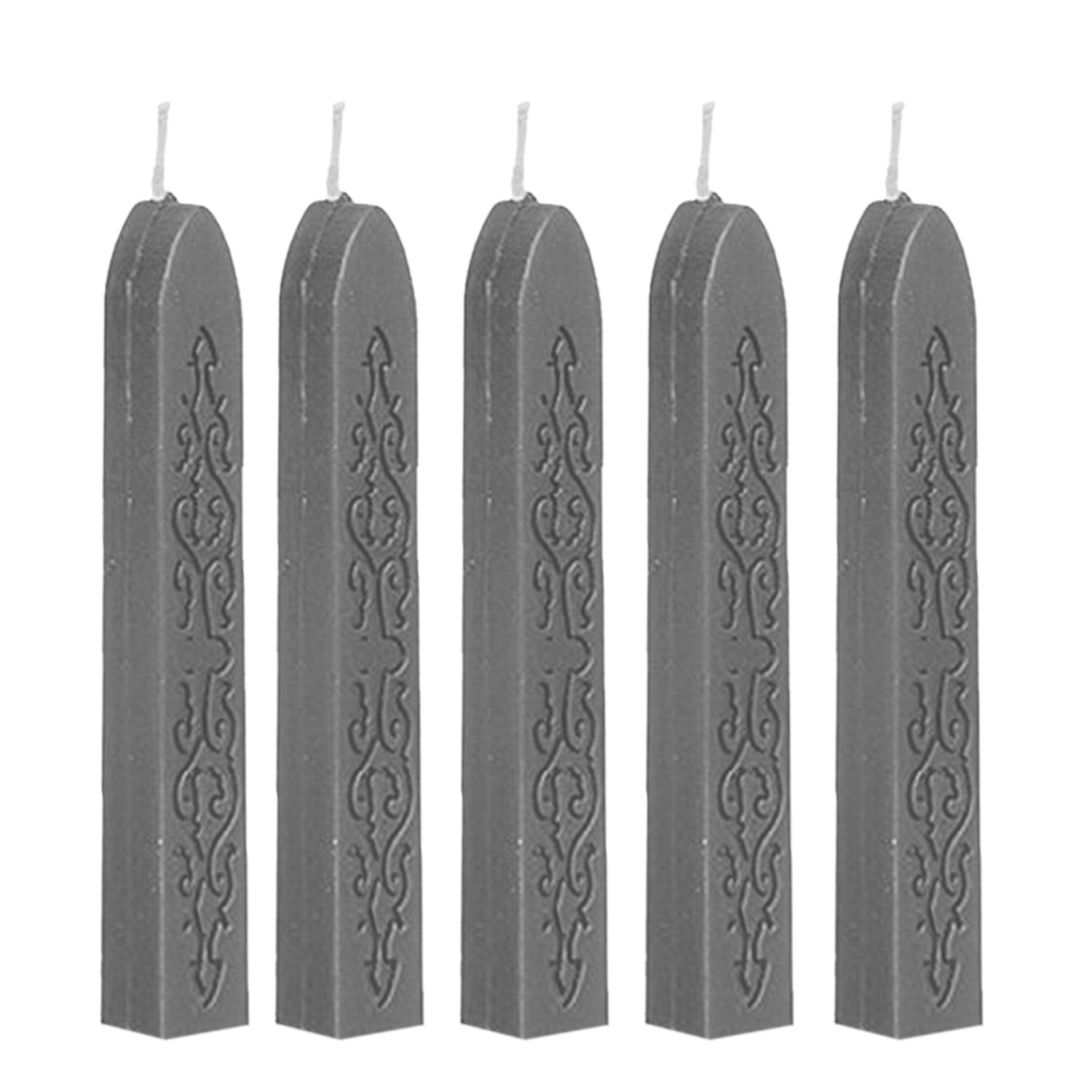RALMALL 5 Pcs Totem Fire Manuscript Sealing Seal Wax Sticks with Wicks Cord Wick Sealing Wax For Postage Letter Retro Vintage Wax Seal Stamp (Blue)
