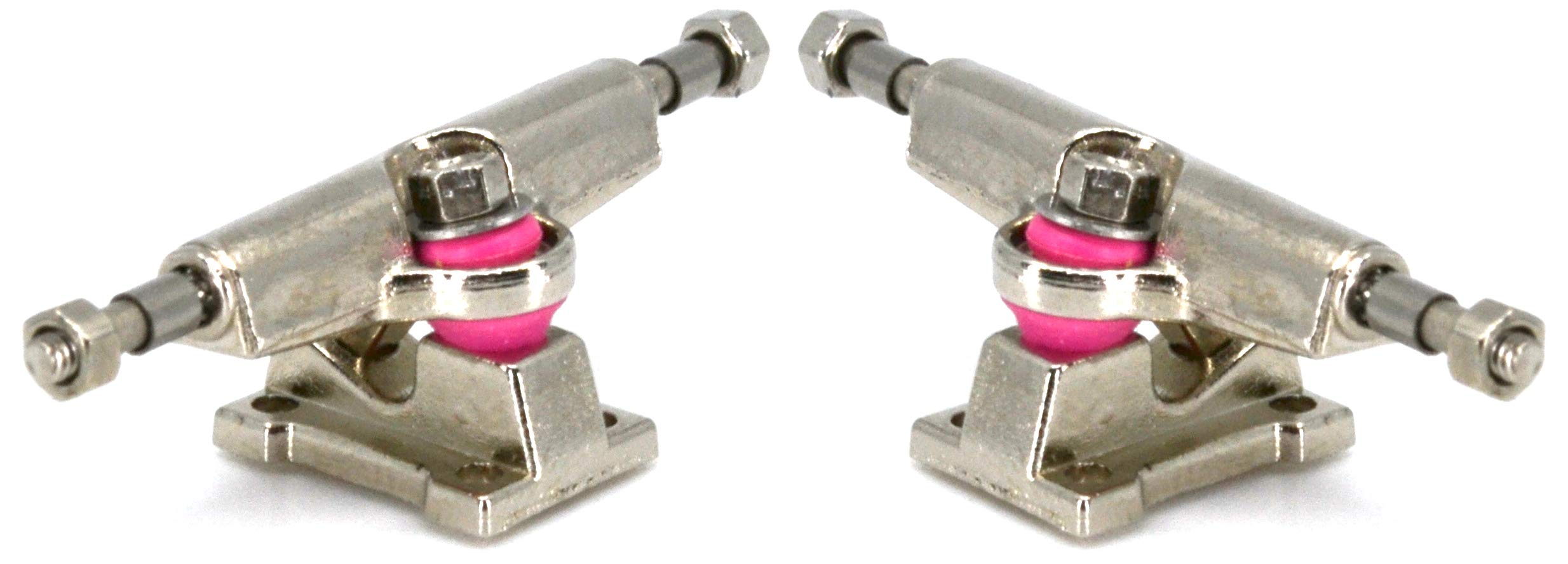 Teak Tuning Professional Fingerboard Trucks Pink Collaboration Tuning, 32mm, Chrome Silver (Set of 2)