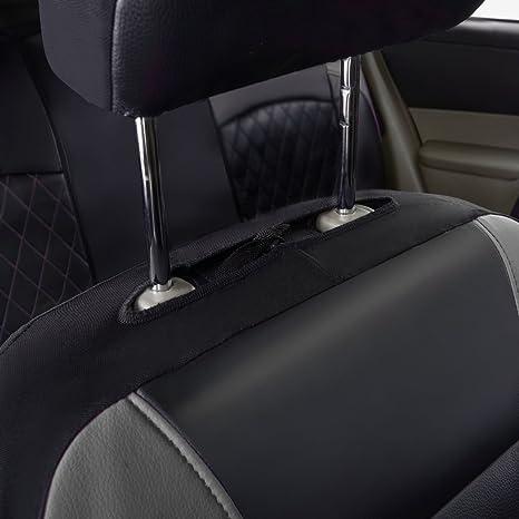 11 x Universal Autositzbez/üge Airbag-kompatibel atmungsaktiv schwarz mit grau