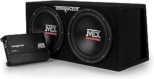 "MTX Audio TNP212DV Dual 12"" Subwoofer Vented Enclosure with Amplifier, Black"