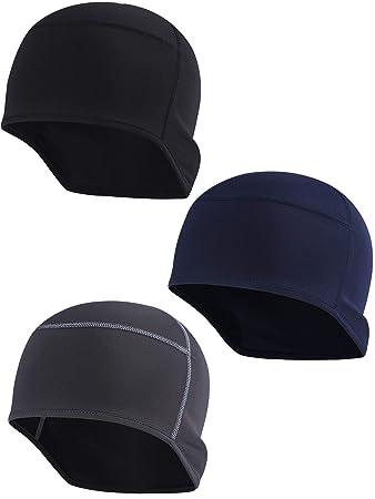 52c9577247c Zhanmai Helmet Cap Helmet Liner Beanie Fits Under Helmets for Men Cycling  Wicking Skull Cap