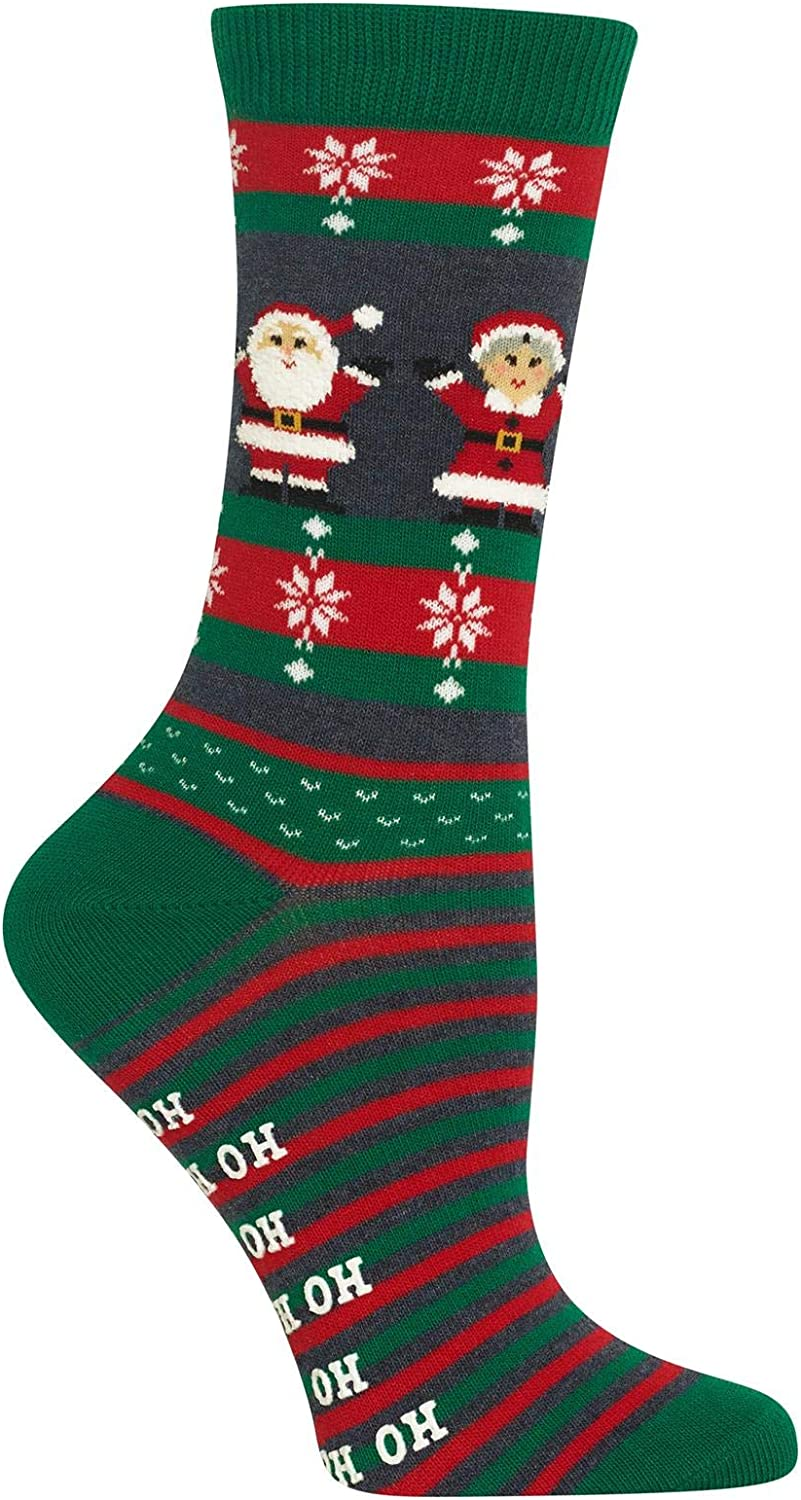 Claus Non-Skid Crew Trouser Sock and Mrs Hot Sox Women/'s Mr