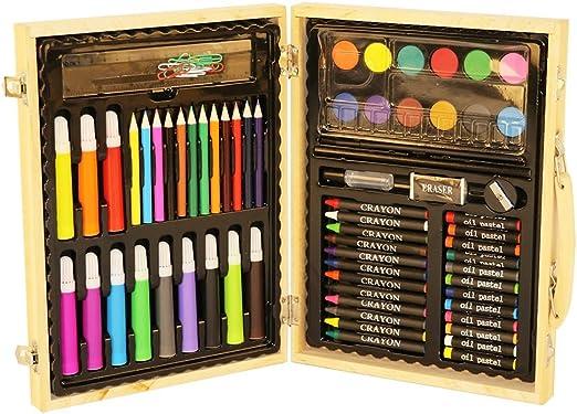 Kanqingqing Caja Colores Niños Conjunto de Arte de 91 Piezas ...