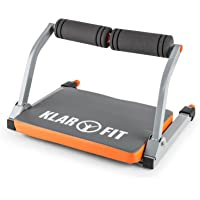 Klarfit Abhatch AB Core Trainer - Appareil Abdominal Exercices Fitness Musculation complets, résistance à Ressort réglable, Coussin Mousse rembourré