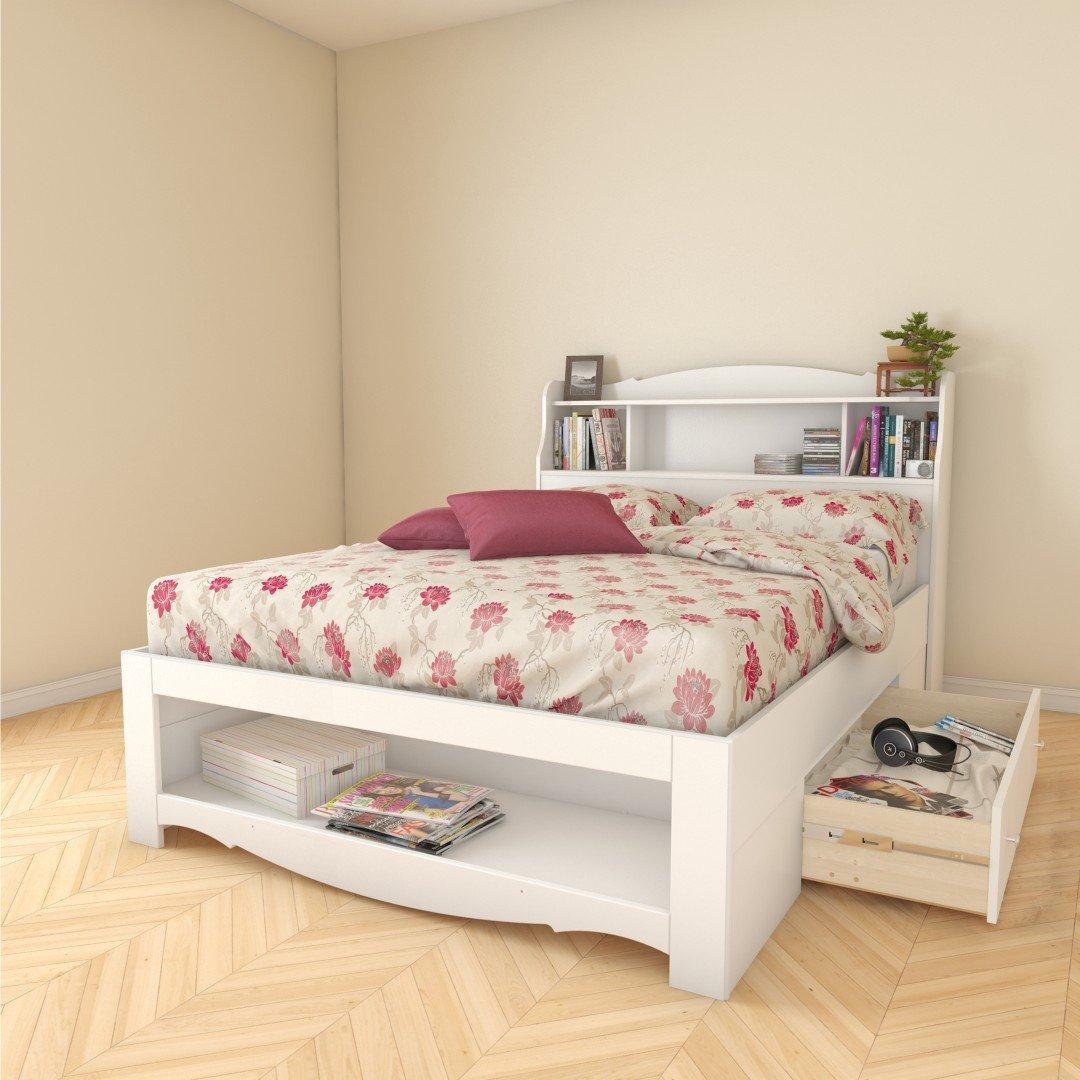 white full storage bed. Amazon.com: Nexera 318403 1-Drawer Full Size Storage Bed, White: Kitchen \u0026 Dining White Bed