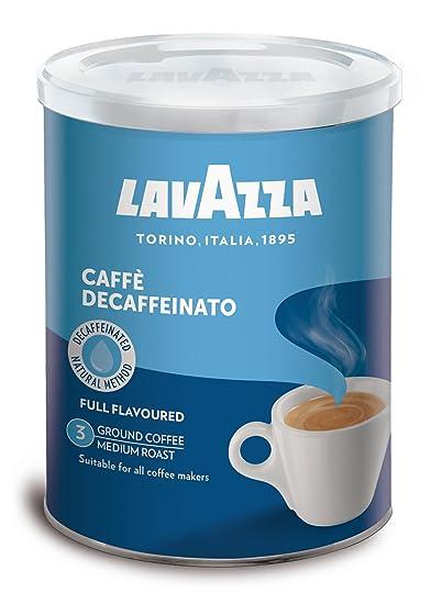 Lavazza Dek Lata de café - Paquete de 2 x 250 g - Total: 500