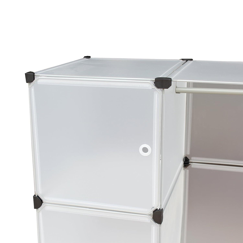 Amazon.com: Portable Extra Wide Deep Modular Storage Clothes Closet System  Organizer 6 Enclosed Cubes: Home U0026 Kitchen